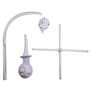 Image 3 - לבן מיטת תינוק נייד מיטת פעמון צעצוע מחזיק זרוע סוגר + רוח תיבת נגינה