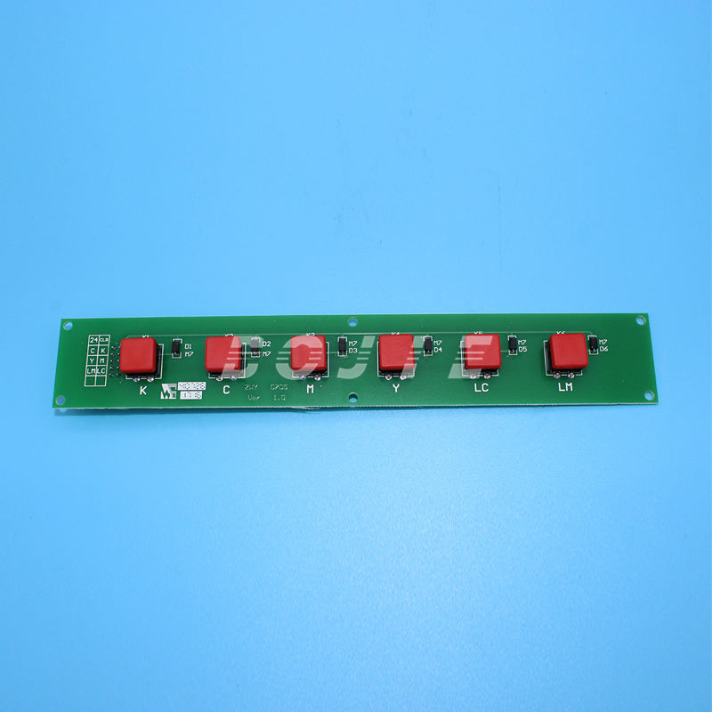 все цены на GongZheng printer 3206DS spare parts press button board key board for seiko printhead