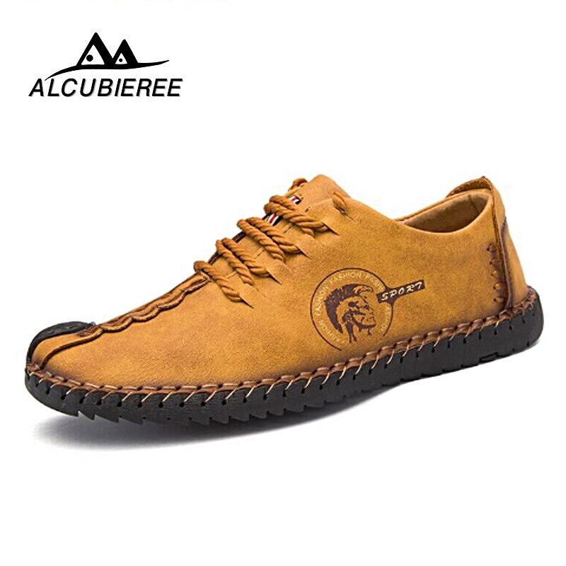 2018 nuevos hombres zapatos Casual hombres zapatos calidad Split zapatos de cuero hombres planos Venta caliente zapatos grandes del tamaño