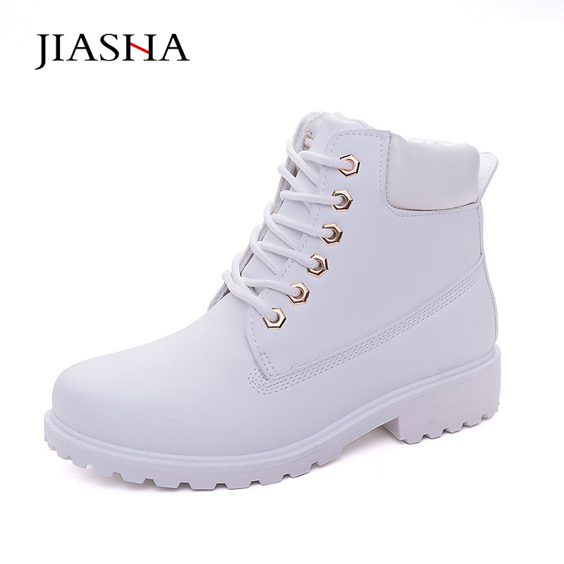 Fashion winter snow boots Nubuck Leather Women Boots 2017 Lace Up Casual Ankle Boots Martin Round Toe Shoes front lace up casual ankle boots autumn vintage brown new booties flat genuine leather suede shoes round toe fall female fashion