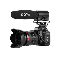 BOYA BY DMR7 Super Cardioid Condenser Microphone with LCD Display Micro HDSC Card Compartment for DSLR Video Camera Camcorder