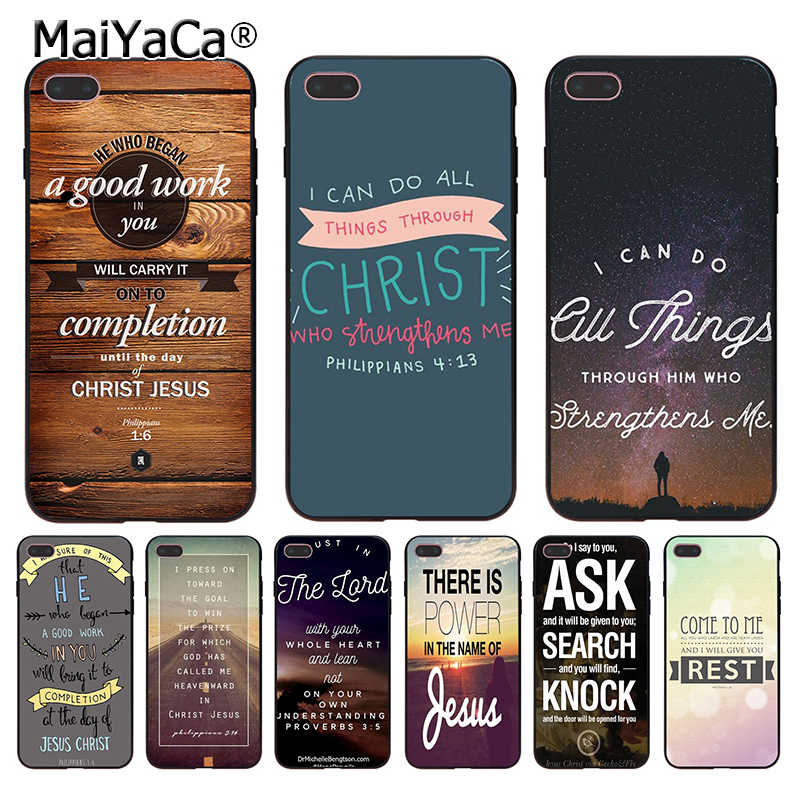 Чехол для iphone 11 Pro XR XS Max 8 7 6 6S Plus X 5 5S SE MaiYaCa Bible verse