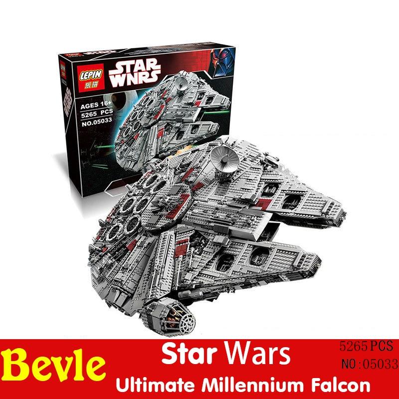 Lepin 05033 5265pcs Without original box Star Wars Ultimate Collector Millennium Falcon Building Blocks Compatible Legoe 10179