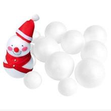 12 шт. 70 мм моделирование пенополистирол пенопласт пены мяч белый авторские шары для DIY для рождественской вечеринки украшения поставки