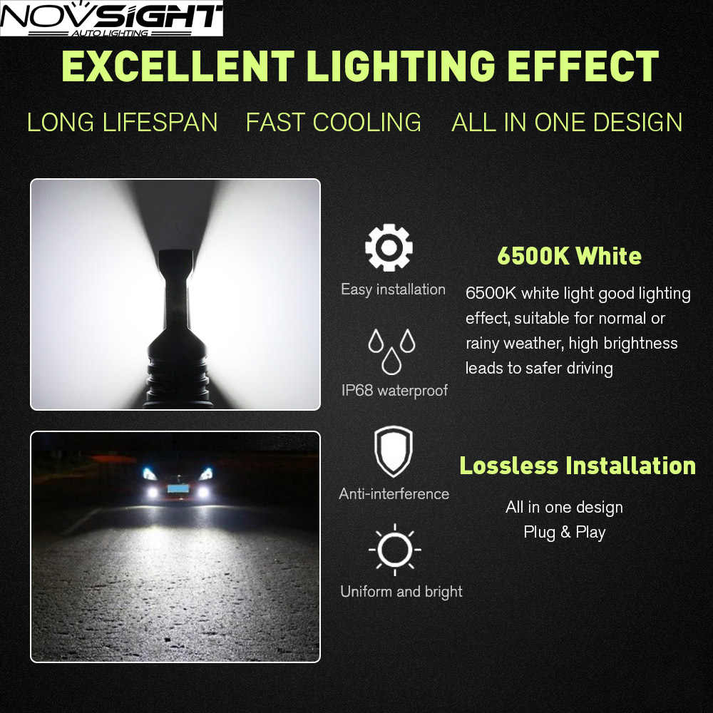 H4 Led Super Bright Headlight H7 H11 9005 HB3 9006 HB4 Led H4 Front Bulbs 6500K CSP Chip 9006 80W Fog Lamp for Car Bulb