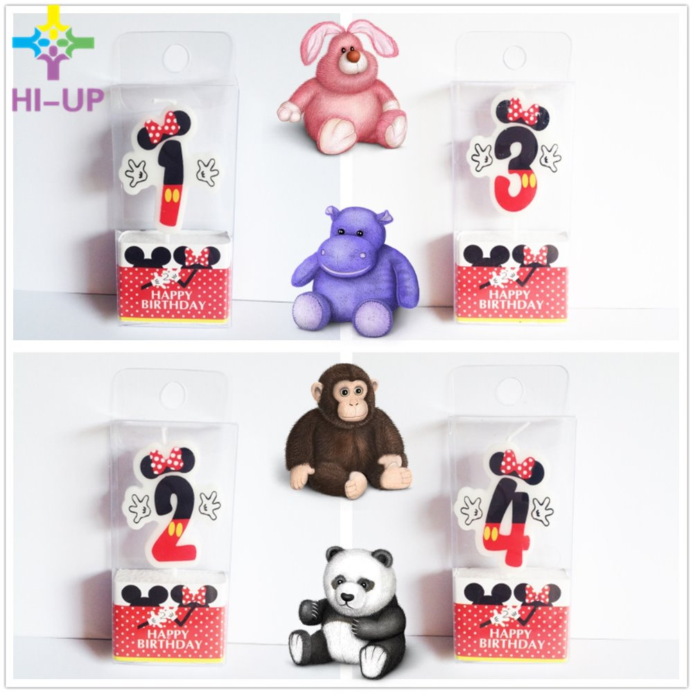 Minnie Mouse Birthday Candles 1 2 3 4 Anniversary Cake ...