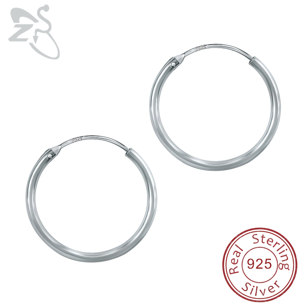 sterling hammered earrings hoop silver jewellery zanfeld shop