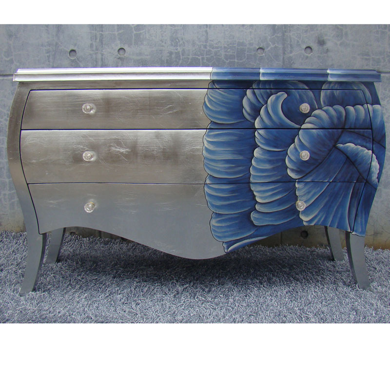 Colored Furniture silver colored neo classical works painted wood furniture, lockers