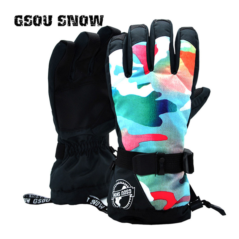 G SNOW colorful winter gloves women ski gloves mountain skiing snowboard gloves warm waterproof handschoenen gants femme