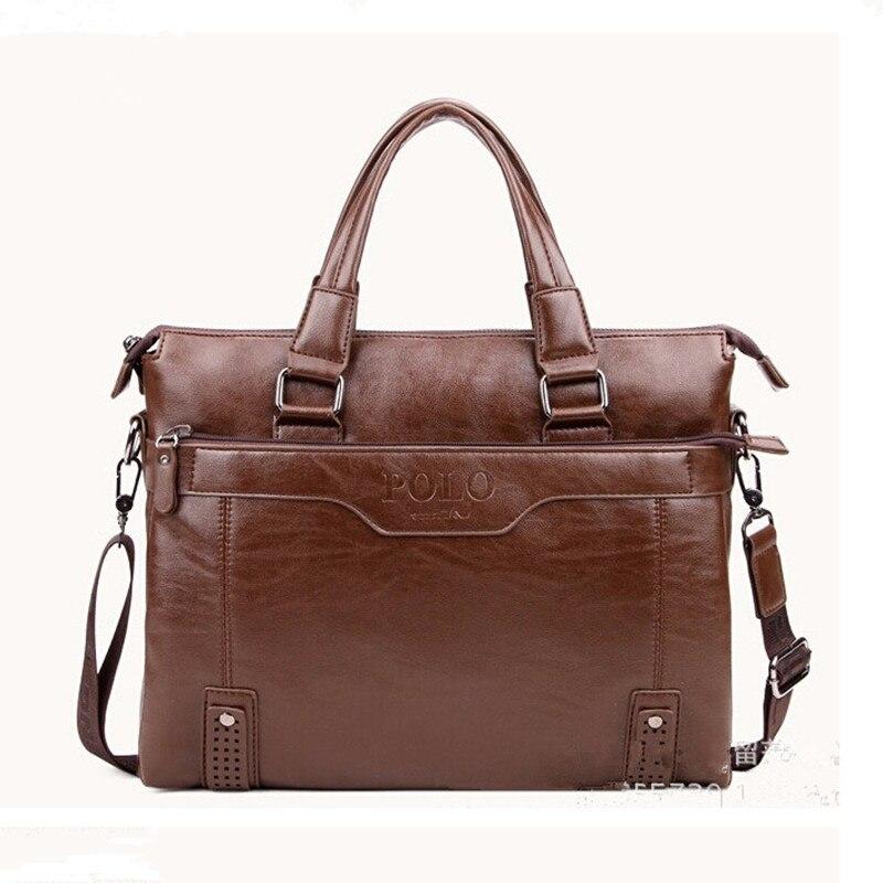 Men 2016 Leather Bags Business Bag Brands Quality Briefcase laptop bag Men s Leather Handbag Shoulder