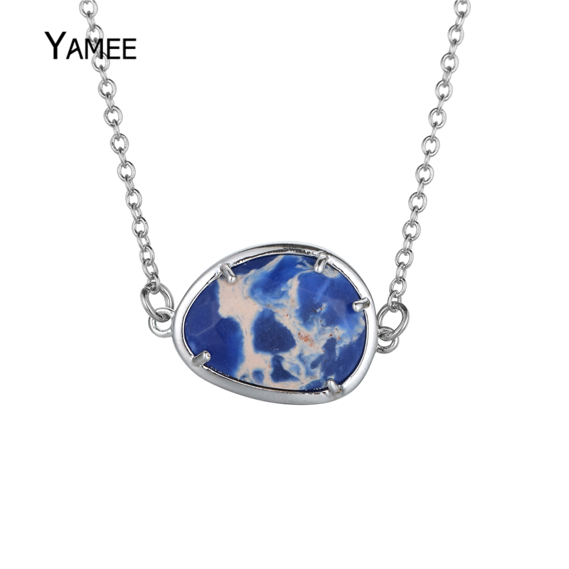 Charm imperial jaspers design gem stone jewelry necklace jewelry charm imperial jaspers design gem stone jewelry necklace jewelry fashion stones pendant necklaces for women white gold color aloadofball Choice Image