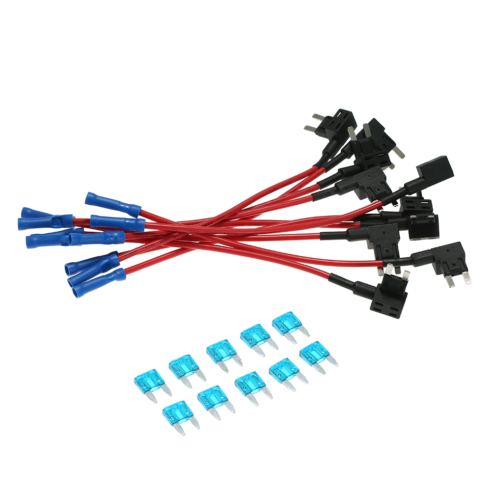 us $7 3 45% off 10pcs 12v auto car add a circuit fuse tap adapter mini blade fuse holder atm apm in fuses from automobiles \u0026 motorcycles on  amazon com mcigicm 10pcs 12v car add a