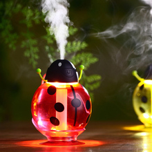 FFFAS Beautiful Ladybug Ladybird USB Humidifier Aroma Essential Oil Diffuser Ultrasonic Mist Beetle Sprayer Steam Maker Winter