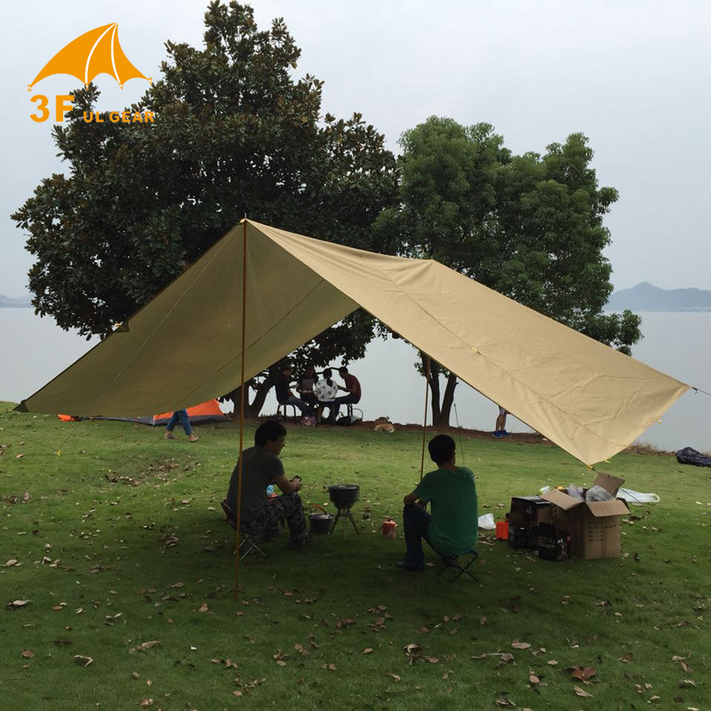 Anti UV 3F UL Gear 4*3m 210T with silver coating outdoor large tarp shelter high quality beach awning