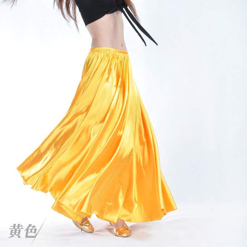 2018 Girls Belly Dance Skirts Clothing Women Dance Chiffon Outfits Dresses Ladies Stage Performance Costume Long Spanish Skirt