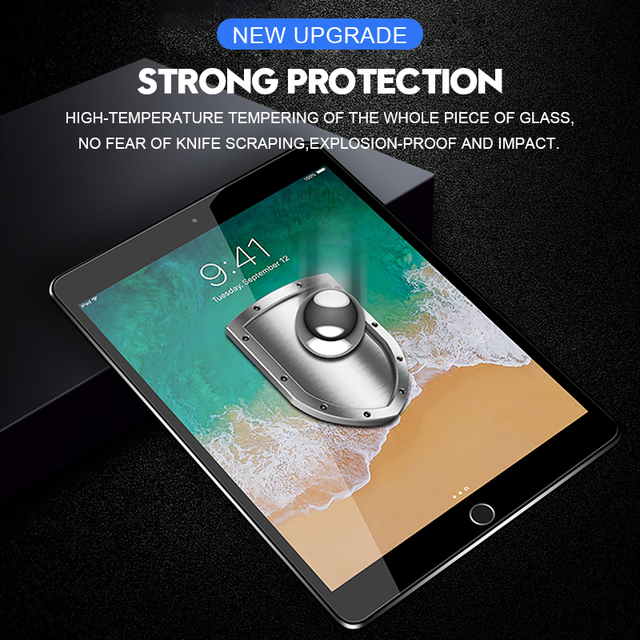 6D Curved Edge Screen Protector For iPad Pro 11 2020 10.5 Tempered Glass For iPad 10.2 2019 2017 2018 9.7 Air 1 2 3 mini 4 5 5