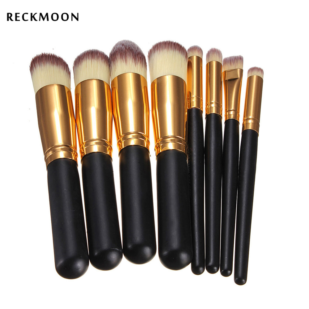 цены  Reckmoon Pro 8pcs/set Makeup Brush Set Maquiagem Beauty Foundation Powder Eyeshadow Cosmetics Make Up Brushes Kabuki Brush Tool