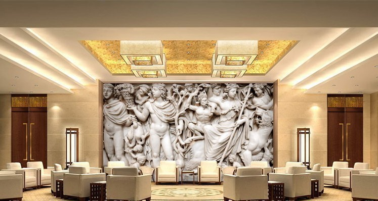 beibehang mural 3d wall paper european sculpture like retro art