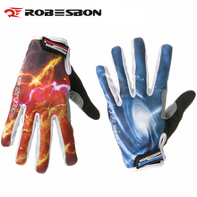 1 Pair ROBESBON Cool Style Full Finger Breathable Anti slip Bicycle font b Gloves b font