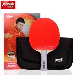 DHS Originele 6-Ster Tafeltennis Racket (6002, 6006) met Rubber (Orkaan 8, tinarc) + Bag Set Ping Pong Bat Tenis De Mesa