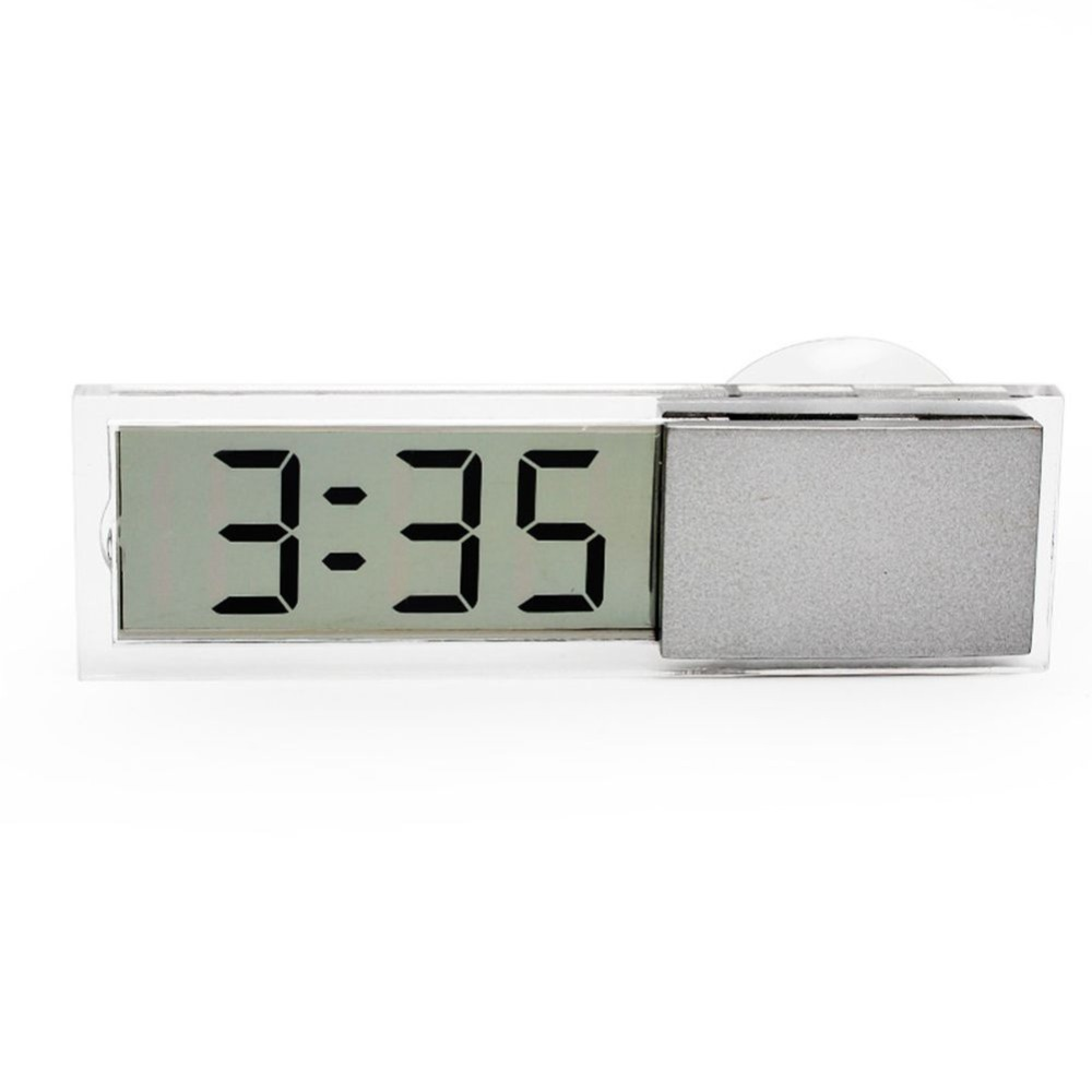 Car Digital Electronic Clock Mounted On Windscreen Dashboard LCD Display Suction Cup Sucker Sticker Auto Interior Accessories