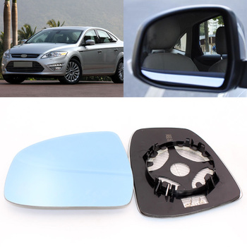For Ford Mondeo 2007-2013 Side View Door Mirror Blue Glass With Base Heated 1 Pair