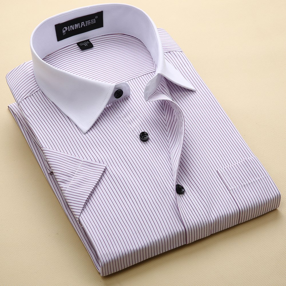 Brand Mens Striped Shirts Casual Social Business Formal Shirt High