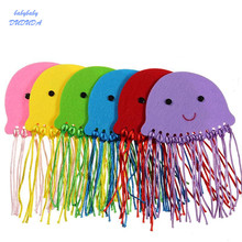 6PCS Tether Jellyfish DIY HandmadeToys Weave Knot Material package Kindergarten Education Decorate Nonwoven fabric Child manual