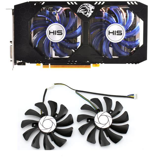 DIY 85MM HA9010H12F Z 4PIN for XFX RX 560D RX 570 RX 580 RX Vega Graphics Video Card PC Cooling Fans