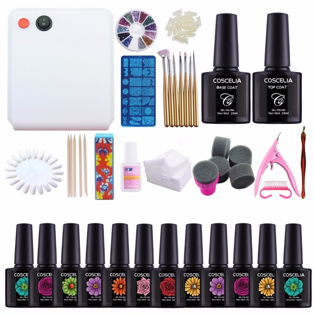 Coscelia Nail Art Set For Manicure 10ml Gel Nail Polish Set Tool For