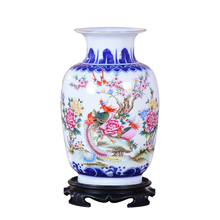 Azul e Branco de Cerâmica Vaso de Flor Porcelana Chinesa Antiga Figura História Padrão Pheonix Vaso Artesanal Jingdezhen Vasos de Flores