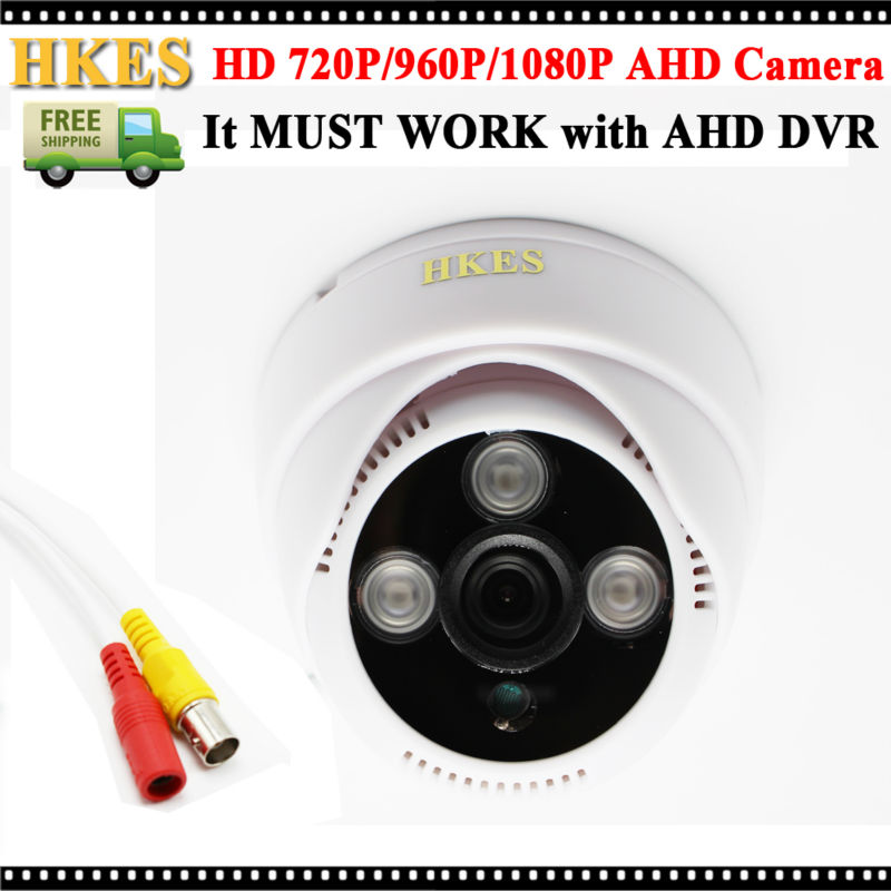 CCTV Security 720P AHD Camera IR Dome 1080P Indoor Video Surveillance Night Vision Cam 3Array 960P 4pcs lot 960p indoor night version ir dome camera 4 in1 camera 3 6mm lens p2p onvif abs plastic housing