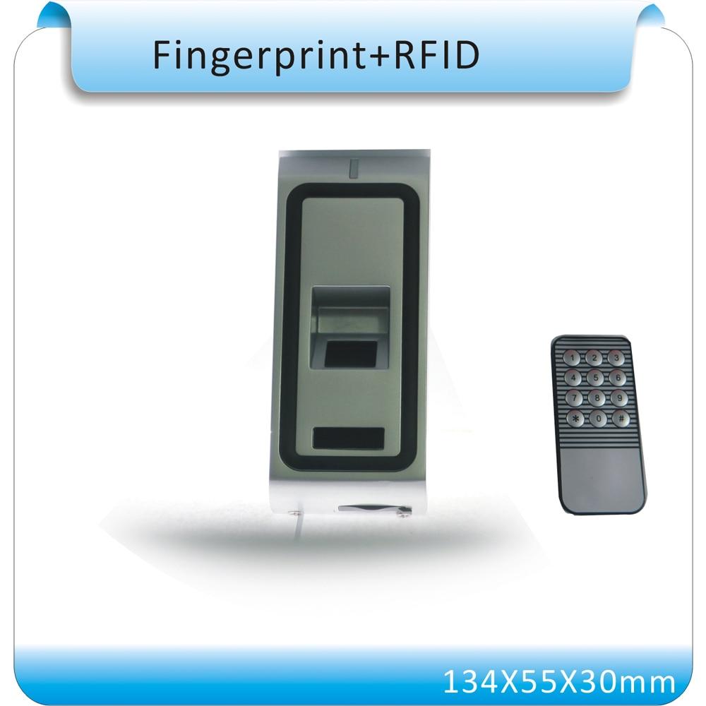 DIY F2 Vandal Resistant Metal Proximity RFID +fingerprint Access Control system WG26 output+10crystal keyfob