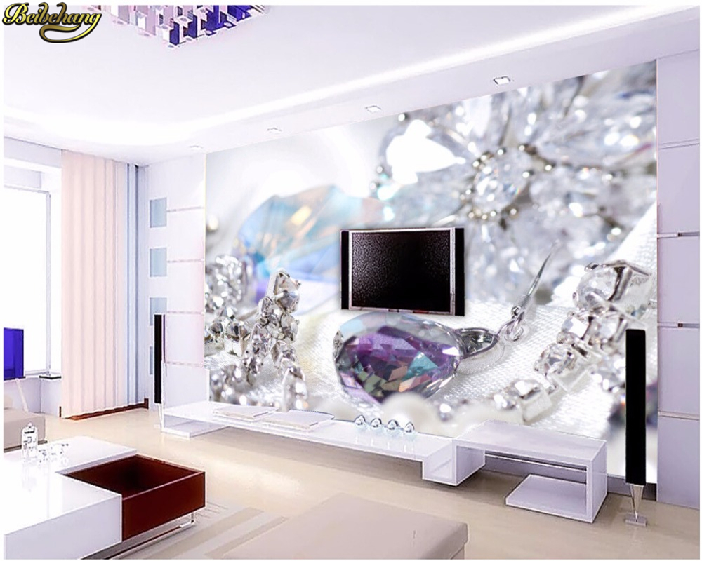 Beibehang Murals Wallpapers Home Decor Photo Background Wallpaper Photography Silk Cloth Diamond Art Painting Hotel Bathroom
