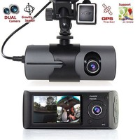 Car DVR With GPS Logger 2.7 Display HD 1080P Dual Camera Vehicle Video Recorder Dash Cam Dash board Camera Recorder