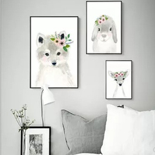 New Fox Hedgehog Animal Posters and Prints Canvas Art Painting Wall Art Nursery Decorative Picture Nordic Style Kids Decoration modern style scenery posters canvas art painting wall art nursery decorative picture nordic style kids deco