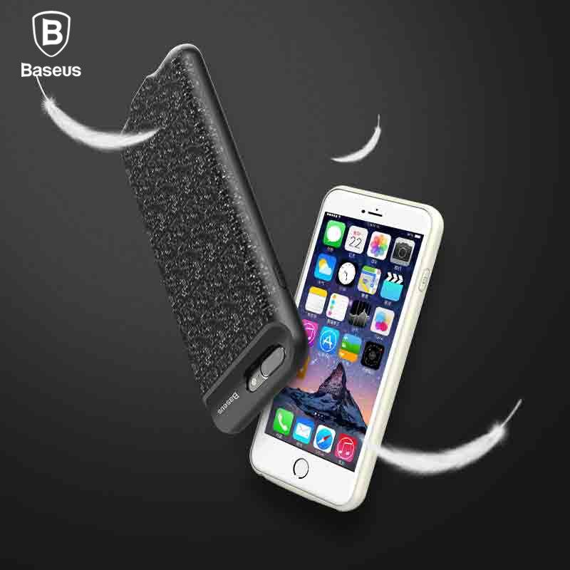 Baseus Caso De Alimentação Para iphone 7/7 plus 2500/3650 mAh de Backup Portátil Power Bank Caso Carregador Para iphone 7 plus bateria externa