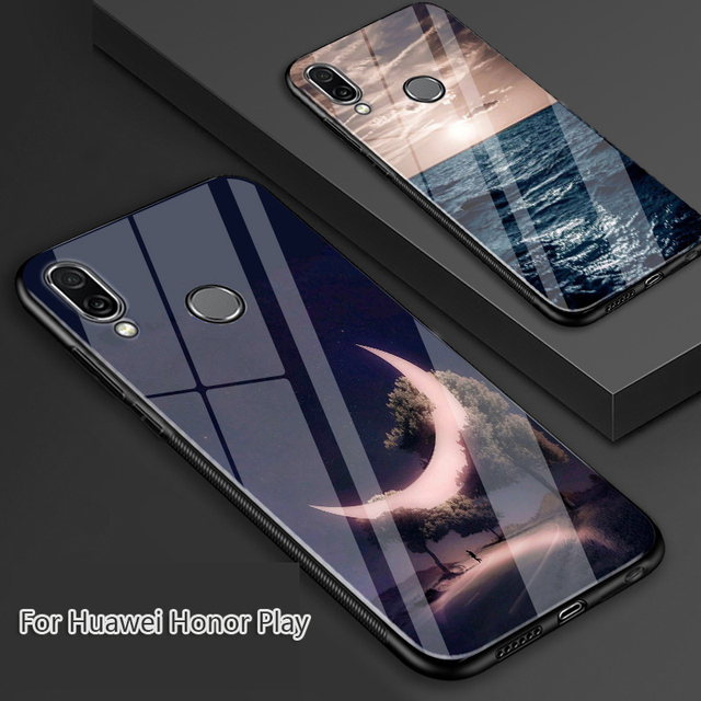 wholesale dealer a6236 279f8 US $9.98 |For Huawei Honor Play Case,zhire Custom Toughened Glass+TPU Back  Cover Shockproof Case For Huawei Honor Play-in Fitted Cases from Cellphones  ...