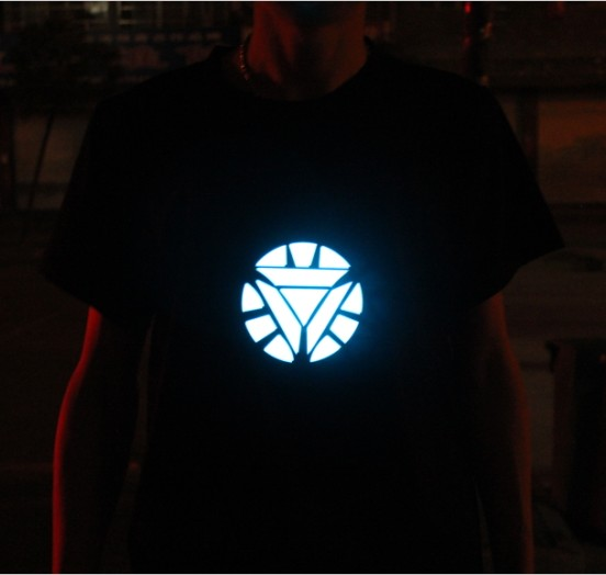 Iron 3 man1 luminous t-shirt thermonuclear core