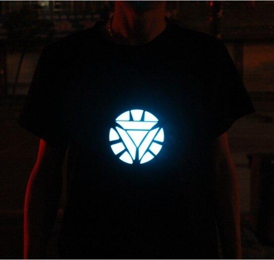 Iron 3 man1 luminous t-shirt thermonuclear core