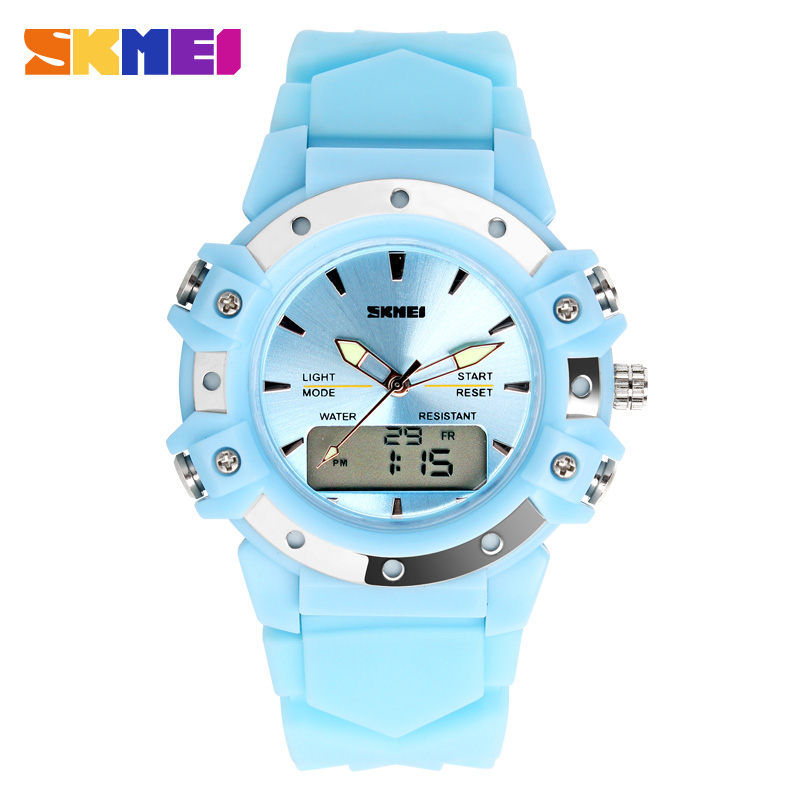 Skmei 0821 Silicon Watch band Dual Time casual digital women / men dress sports military watches Christmas Gift 3AT waterproofSkmei 0821 Silicon Watch band Dual Time casual digital women / men dress sports military watches Christmas Gift 3AT waterproof