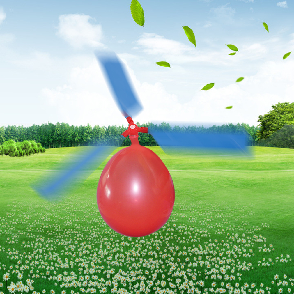 1pcs Balloon Helicopter Eco-friendly Creative Toys Balloon Aircraft Propeller Kids UFO Antistress Flying Toy Outdoor Sports