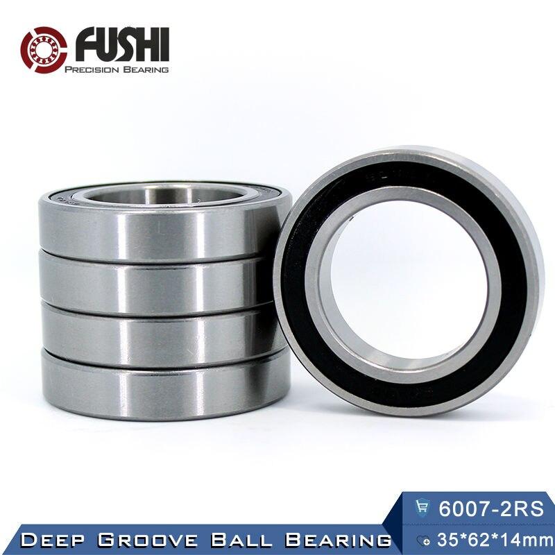 6007RS Bearing ABEC-3 (2 PCS) 35*62*14 mm Deep Groove 6007-2RS Ball Bearings 6007RZ 180107 RZ RS 6007 2RS EMQ Quality