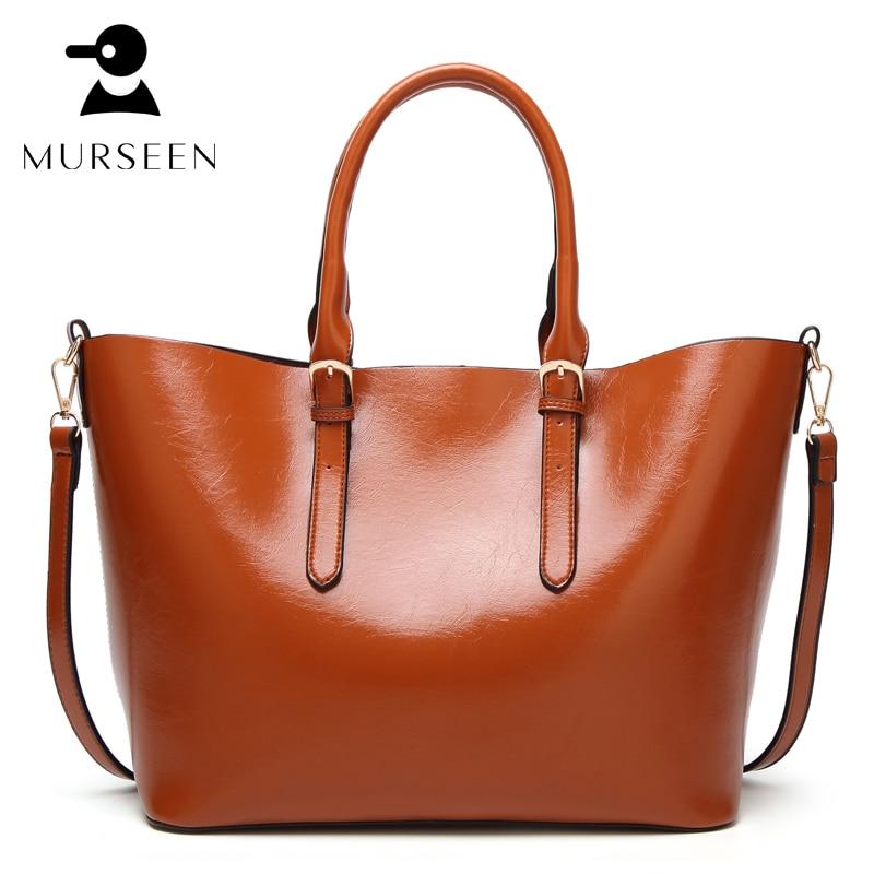 купить Women Tote Bag Leather Casual Bags Big Capacity Woman Brown Shoulder Bag Large Ladies Shopping Bags Soft handbag female bolsa MX недорого