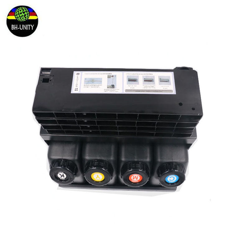 Hot sale!4 colors UV bulk ink system for Ep son Mimaki Roland Xenons Wit-color CISS ink supply system 4 cartridges + 4 bottles