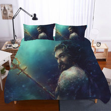 King Size 3D Printing Bedding Set Aquaman Printing Bedding Sets  Home Textile Duvet Cover Bed Sheets Pillowcases Bed Linen 3d printing king size bedding sets how to train your dragon bedding set duvet cover bed sheet pillowcases bed linen home textile