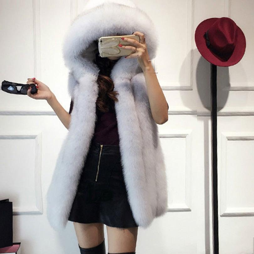 Rompi Mantel 2018 Baru Musim Dingin Bulu Rubah Rompi Bulu Imitasi - Pakaian Wanita - Foto 1
