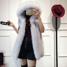 Vest Coat 2018 New Winter Fox Fur Vest Faux Fur Vest Women Jacket Mink Outerwear Female Short Paragraph Leather Grass Fur Coat