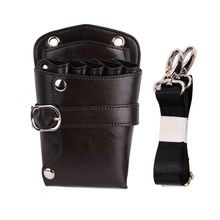 цена на Professional Barber Leather Salon Scissors Pouch Bag Waist Pack Hairdressing Tool
