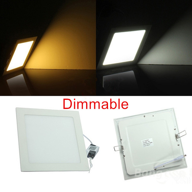 25 Watt Dimmable Ultra thin design LED Dimmable Ceiling Recessed Grid Downlight / Slim Square LED Down light Panel Light